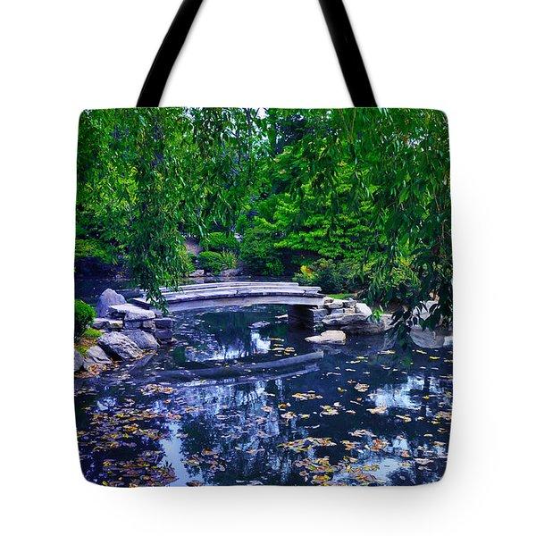 Little Bridge - Japanese Garden Tote Bag by Bill Cannon