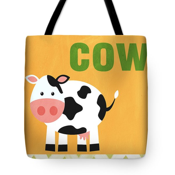 Little Cow Tote Bag by Linda Woods