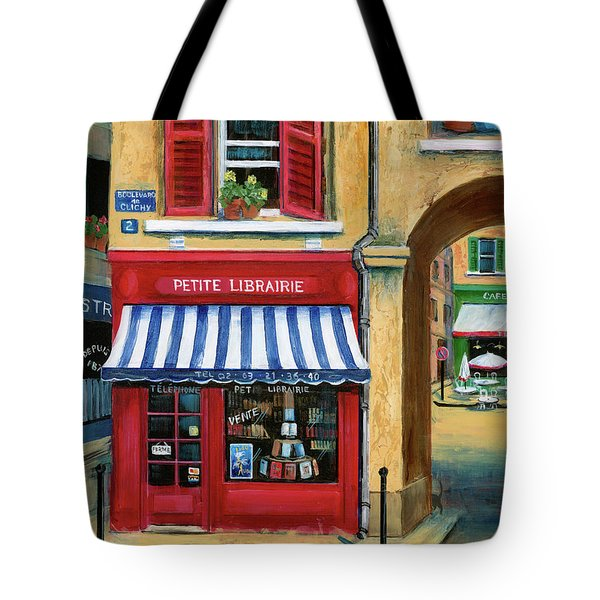 Little French Book Store Tote Bag by Marilyn Dunlap