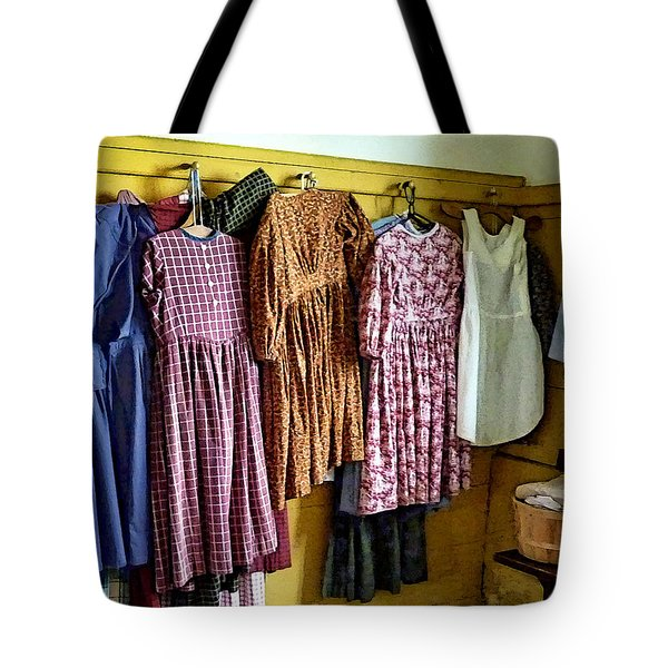 Little Girl's Gathered Dresses Tote Bag by Susan Savad