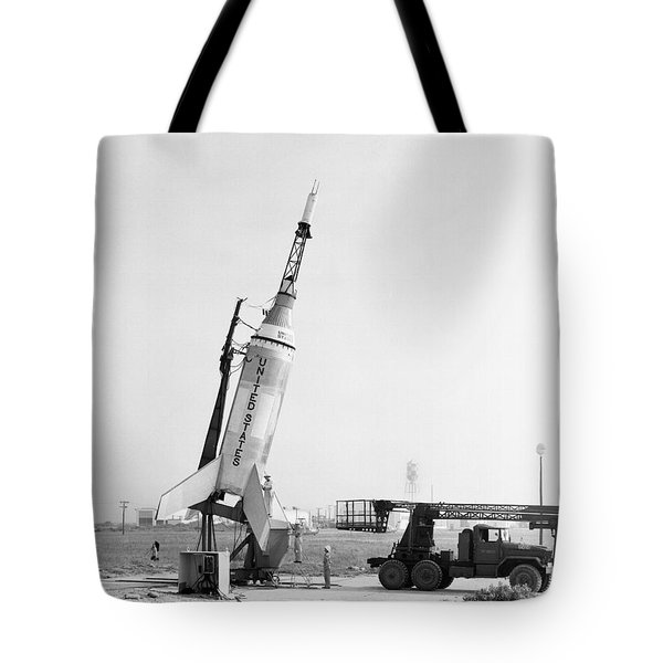 Little Joe On Launcher At Wallops Tote Bag by Stocktrek Images