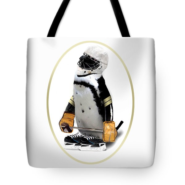 Penguin Mixed Media Tote Bags For Sale