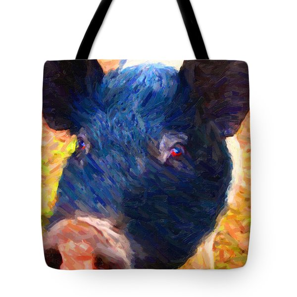 Little Miss Piggy Tote Bag by Wingsdomain Art and Photography