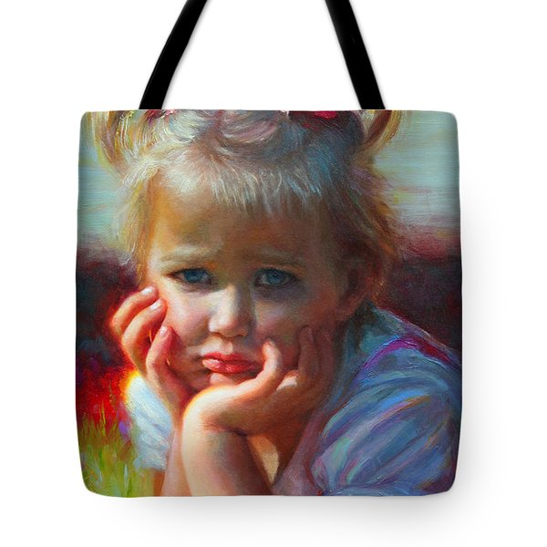 Little Miss Sunshine Tote Bag by Talya Johnson