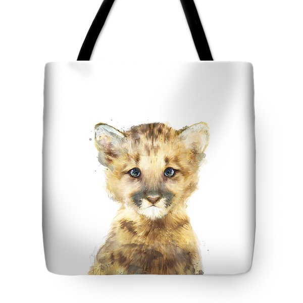 Little Mountain Lion Tote Bag by Amy Hamilton