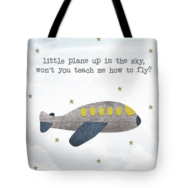 Little Plane Tote Bag by Samuel Whitton