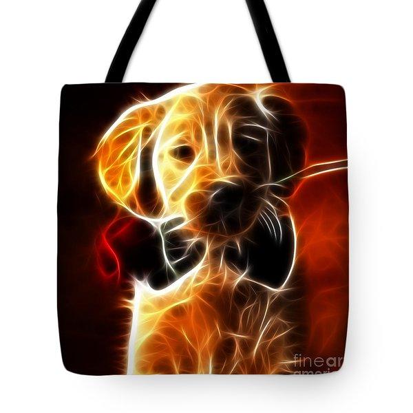 Little Puppy In Love Tote Bag by Pamela Johnson