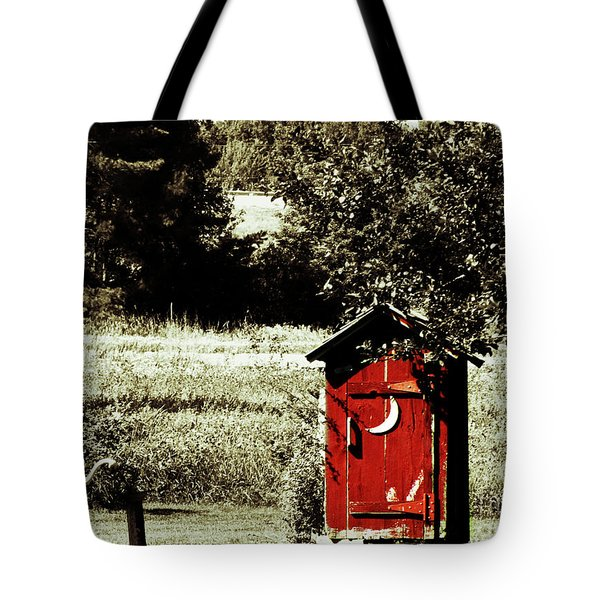 Little Red Outhouse Tote Bag by Ms Judi