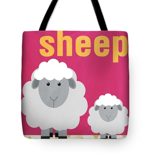 Little Sheep Tote Bag by Linda Woods