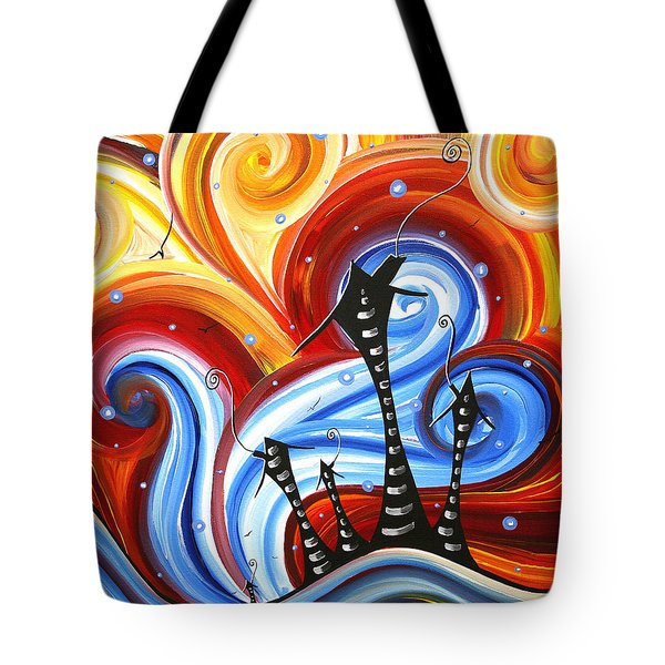 Little Village By Madart Tote Bag by Megan Duncanson
