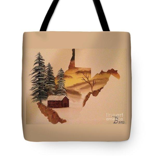 Little Wv Cabin Tote Bag by Tim Blankenship
