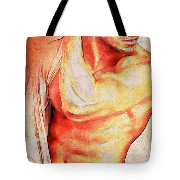 Lo Que Dice Mi Corazon Tote Bag by Mark Ashkenazi
