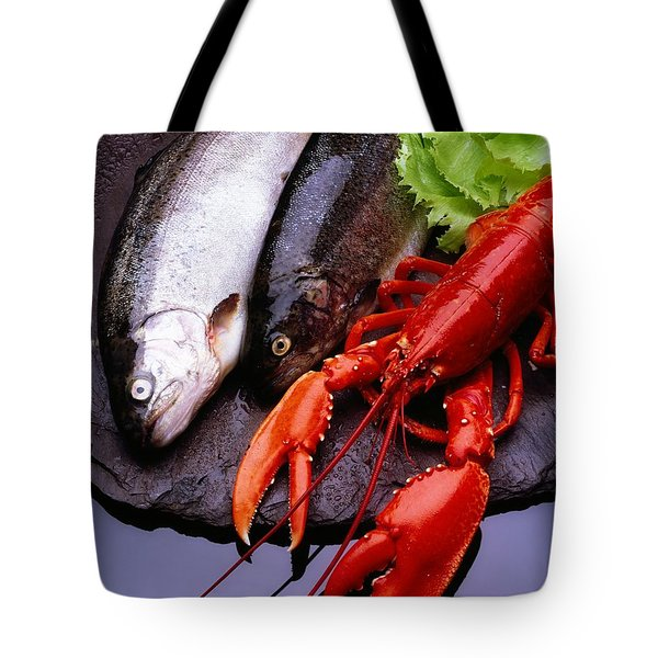 Lobster And Trout Tote Bag by The Irish Image Collection
