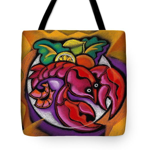 Lobster Tote Bag by Leon Zernitsky