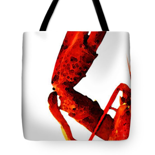 Lobster - The Left Side Tote Bag by Sharon Cummings