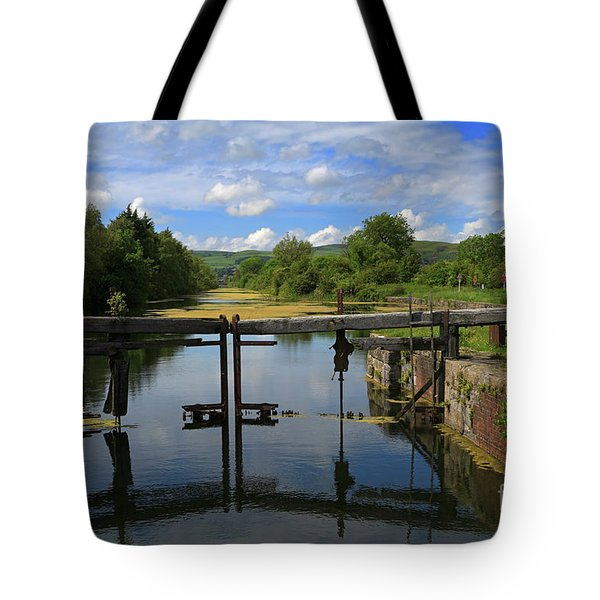 Lock Gates On The Old Canal Tote Bag by Louise Heusinkveld