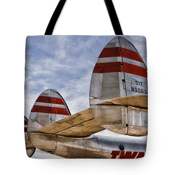 Lockheed Constellation Tote Bag by Carol Leigh
