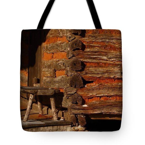 Log Cabin Tote Bag by Robert Frederick