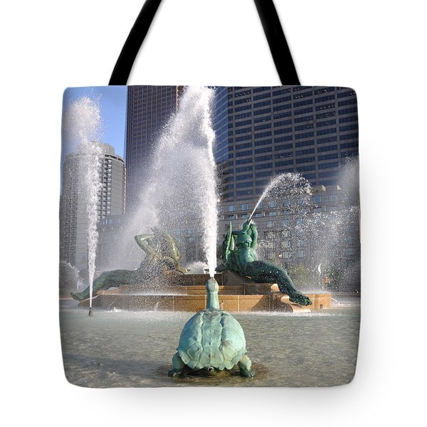Logan Circle Fountain Tote Bag by Bill Cannon