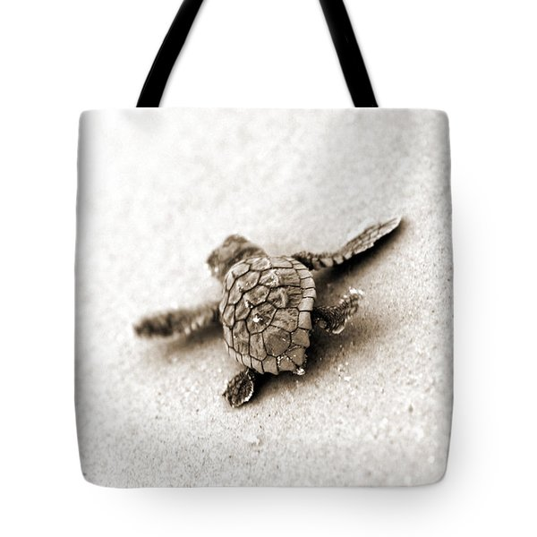 Loggerhead Tote Bag by Michael Stothard