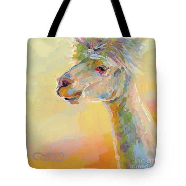 Lolly Llama Tote Bag by Kimberly Santini