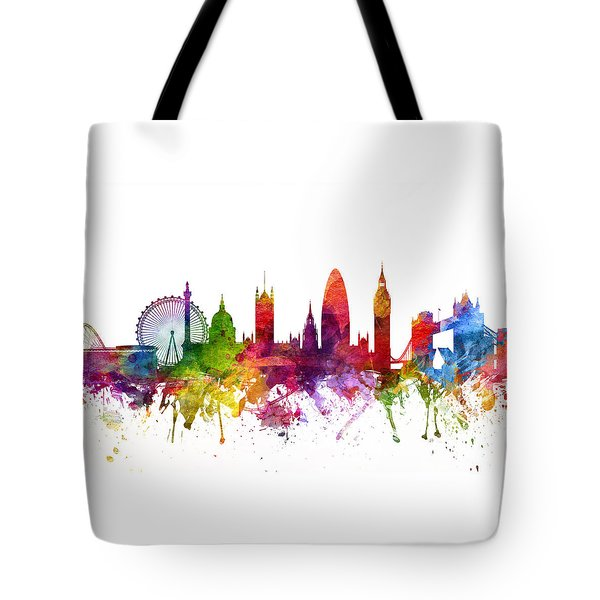 London England Cityscape 06 Tote Bag by Aged Pixel