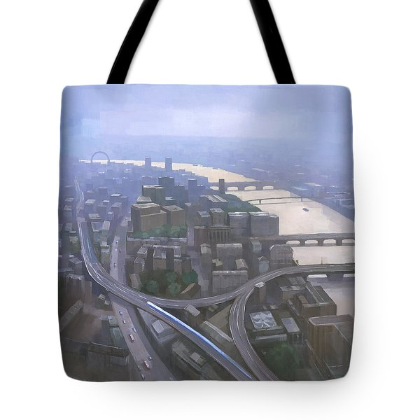 London, Looking West From The Shard Tote Bag by Steve Mitchell