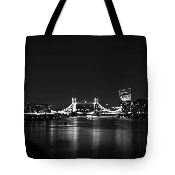London Night View Tote Bag by Mark Rogan