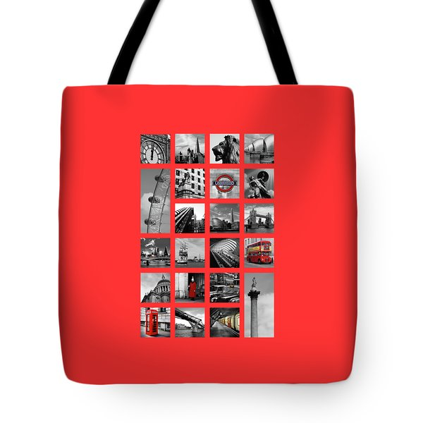 London Squares Tote Bag by Mark Rogan