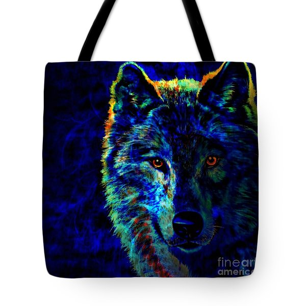Lone Wolf Tote Bag by WBK