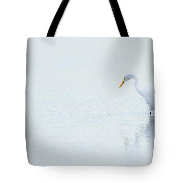 Lonely Egret Tote Bag by Karol Livote