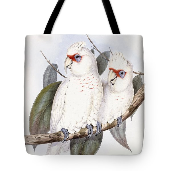 Long-billed Cockatoo Tote Bag by John Gould
