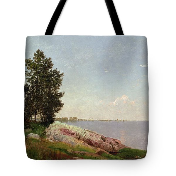 Long Island Sound At Darien Tote Bag by John Frederick Kensett