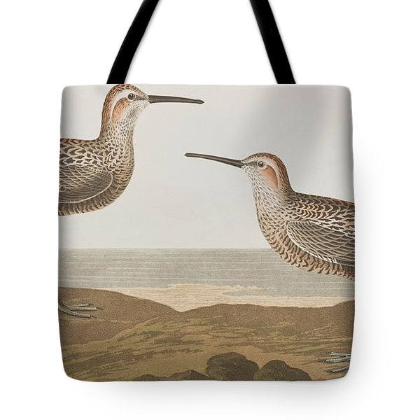 Long-legged Sandpiper Tote Bag by John James Audubon