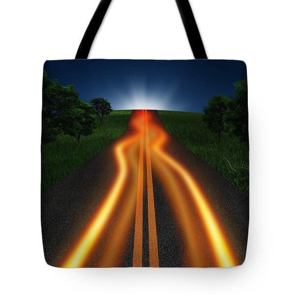 Long Road In Twilight Tote Bag by Setsiri Silapasuwanchai