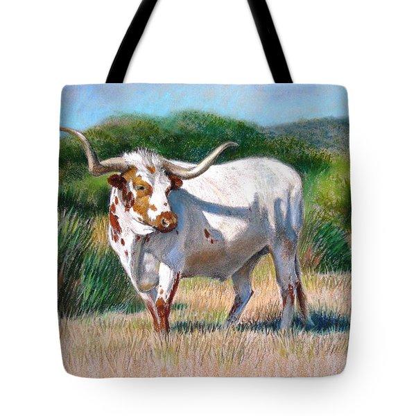 Longhorn Bull Tote Bag by Sue Halstenberg