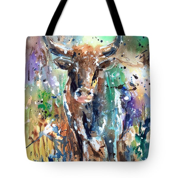 Longhorn Steer Tote Bag by Arline Wagner