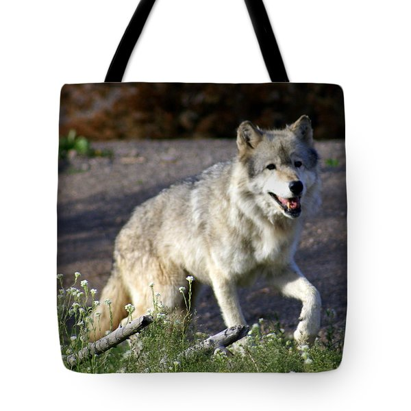 Lonly Wolf Tote Bag by Marty Koch
