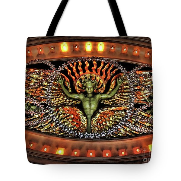 Looking Up from the Applause Tote Bag by Joan  Minchak
