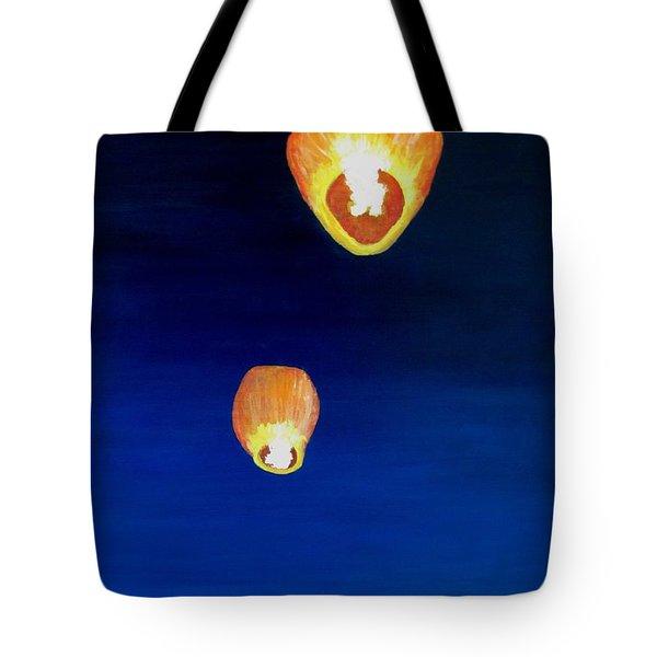 Lorraine's Lanterns Tote Bag by Jack Skinner