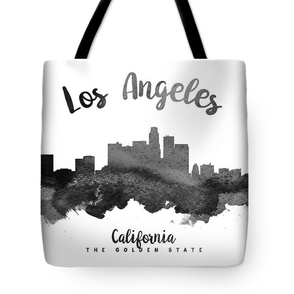 Los Angeles California Skyline 18 Tote Bag by Aged Pixel
