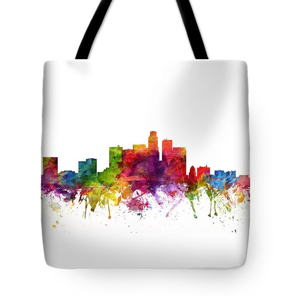 Los Angeles Cityscape 06 Tote Bag by Aged Pixel
