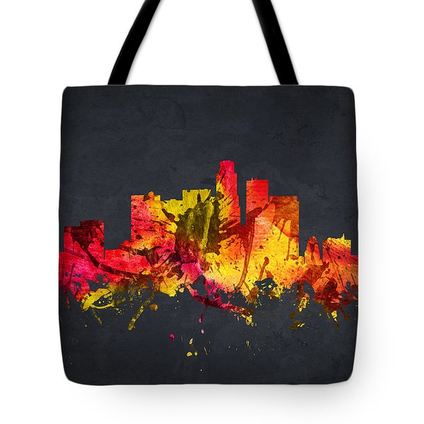 Los Angeles Cityscape 07 Tote Bag by Aged Pixel
