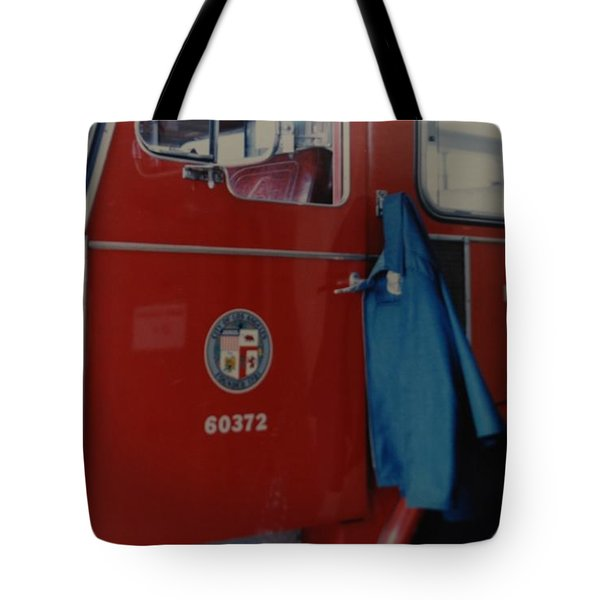 Los Angeles Fire Department Tote Bag by Rob Hans