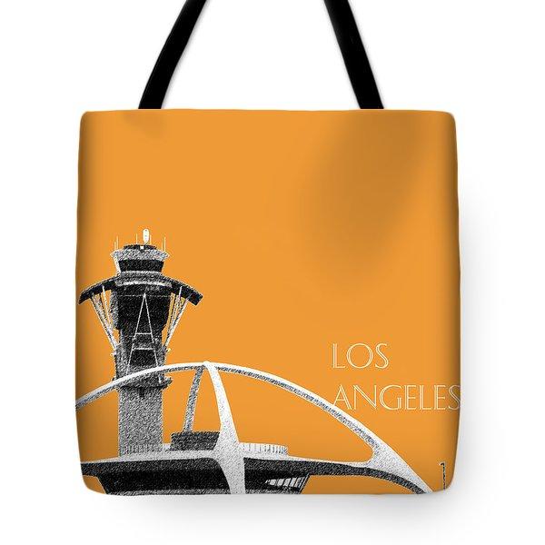 Los Angeles Skyline Lax Spider - Orange Tote Bag by DB Artist
