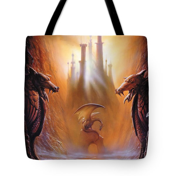 Lost Valley Tote Bag by The Dragon Chronicles - Garry Wa