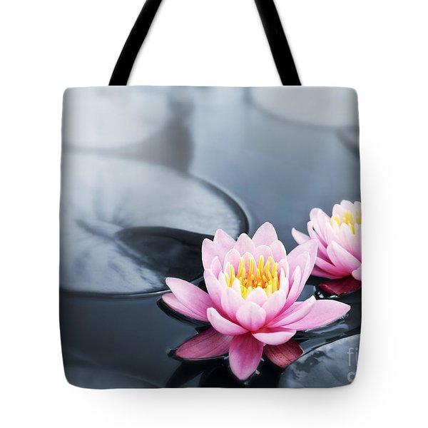 Lotus blossoms Tote Bag by Elena Elisseeva
