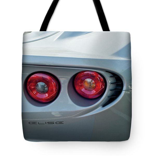 Lotus Elise Taillight Tote Bag by Jill Reger