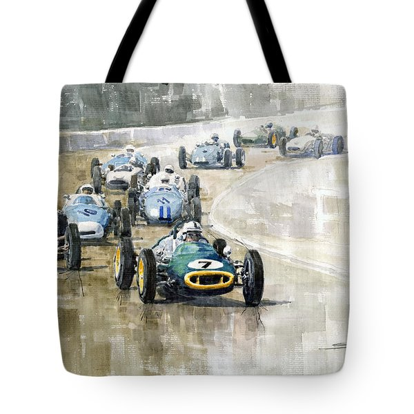 Lotus GP Tote Bag by Yuriy  Shevchuk