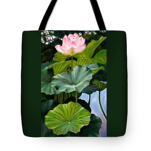 Lotus Rising Tote Bag by John Lautermilch